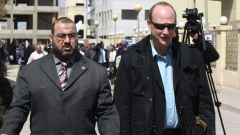 """Sixteen Americans were among the dozens arrested in December 2011 when Egypt raided the offices of 10 nongovernmental organizations that it said received illegal foreign financing and were operating without a public license. Many of the employees posted bail and left the country after a travel ban was lifted a few months later. Robert Becker, right, <a href=""""http://www.cnn.com/2012/06/05/world/africa/egypt-ngos"""">chose to stay</a> and stand trial. He spent two years in prison and has since returned to the United States."""