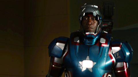 "Don Cheadle stars as James Rhodes/War Machine in ""Iron Man 3."""