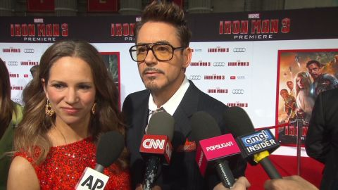 Robert Downey Jr at the Los Angeles premier of Iron Man 3. April 24, 2013.