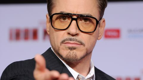 Actor Robert Downey Jr. at the premiere of 'Iron Man 3' on April 24, 2013 in Hollywood.