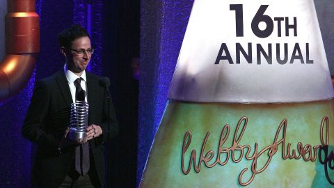 Author and FiveThirtyEight blogger Nate Silver gave the commencement address at Ripon College in Wisconsin on May 12. Here, Silver attended the Webby Awards in 2012.