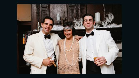 """On the other hand, wealth manager Russell Bailyn, right, spared no expense for his """"Great Gatsby""""-themed 30th <a href=""""http://ireport.cnn.com/docs/DOC-968761"""">birthday party</a>. His top tip for hosting a successful bash? """"Giant bottles of champagne and lobster are a good start."""""""