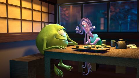 """The characters Mike and Celia from the 2001 Pixar film """"Monsters, Inc."""" give an onscreen nod to Harryhausen when they go on a date to his fictional restaurant."""