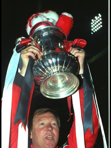 A late winner from substitute Mark Robbins in an FA Cup replay against Nottingham Forest in January 1990 allegedly spared Ferguson the sack. United went on to beat Crystal Palace at the second attempt in the final, giving Ferguson his first trophy at Old Trafford.