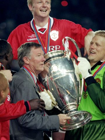 Ferguson's finest hour arrived in Barcelona in May 1999, when his United team came from 1-0 down in the 90th minute to beat Bayern Munich 2-1 in the European Champions League final. The win completed an historic treble of titles won during the 1998-99 season, which included the Premier League title and the FA Cup.