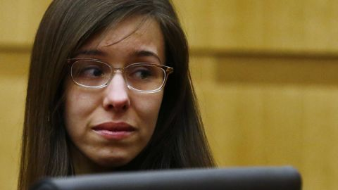 Jodi Arias reacts on May 8, 2013, after an Arizona jury found her guilty of first-degree murder for killing Travis Alexander in June 2008. In 2015, Arias was sentenced to life in prison. Her trial took many turns and revealed a story of sex and violence.