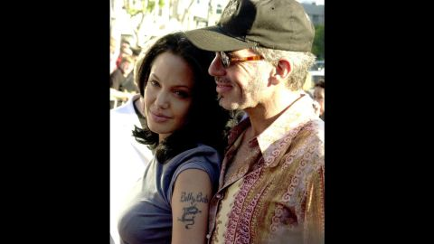"""Jolie and her husband at the time, Billy Bob Thornton, appear at the premiere of her film """"Gone in 60 Seconds"""" in June 2000. They divorced in 2003."""