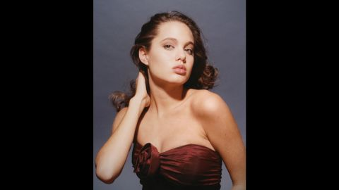 Jolie, then 15, poses for a photo in January 1991.