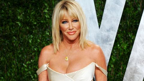 """""""Three's Company"""" star Suzanne Somers <a href=""""http://piersmorgan.blogs.cnn.com/2012/05/07/suzanne-somers-on-stem-cell-surgery-were-not-that-far-away-from-being-able-to-regrow-limbs/?iref=allsearch"""" target=""""_blank"""">spoke with CNN's Piers Morgan in 2012</a> about her stem cell surgery and her bout with breast cancer. She was diagnosed in 2001, which is when she began researching alternative methods to reconstructive surgery."""