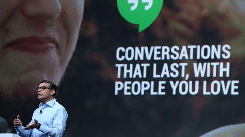 Vic Gundotra, Google senior vice president of engineering, speaks Wednesday at the Google I/O developers conference.