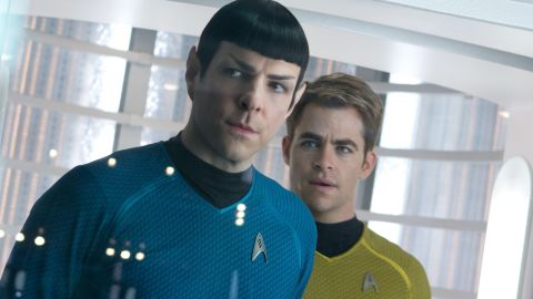 """Zachary Quinto and Chris Pine portray Spock and Kirk, respectively, in 2013's """"Star Trek Into Darkness."""""""
