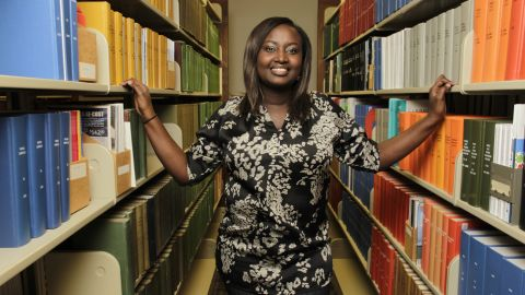 Mireille Kibibi is one of seven refugees graduating this year from Berry College in north Georgia.