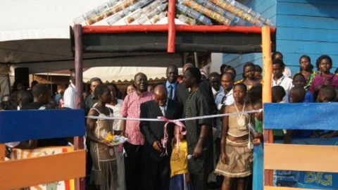 The opening of the playground in Kireka.