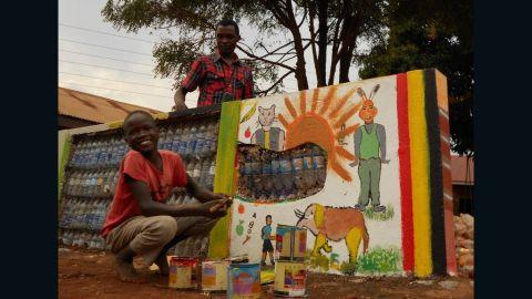 Ugandan eco-artist Ruganzu Bruno built an amusement park for children living in one of Kampala's slums.