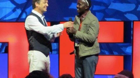 Ruganzu Bruno at the TEDx summit in Doha.