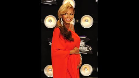 In 2011, Beyonce stole the show at the MTV Video Music Awards when she walked the red carpet and, with the careful placement of her hands, revealed that she was expecting. The star and husband Jay welcomed Blue Ivy in January 2012.