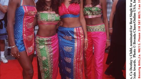 """In 1998, Beyonce, second from right, was known simply as another member of Destiny's Child, a four-member girl group who released a self-titled debut that year and had a breakthrough with the remix of their single """"No, No, No, No."""""""