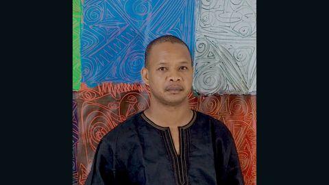 Portrait of award-winning Nigerian visual artist, writer and photographer Victor Ehikhamenor