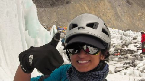 """Raha Moharrak, part of the """"Arabs With Altitude"""" expedition, became the first Saudi woman to reach the summit of Everest."""