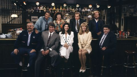 """Having the characters just hang out at the """"Cheers"""" bar for one last scene (after Sam nearly left them all for Diane) seemed a very appropriate way for """"Cheers"""" to say goodbye. And when a customer knocked on the door, Sam Malone -- in the darkened bar -- said, """"Sorry, we're closed."""""""