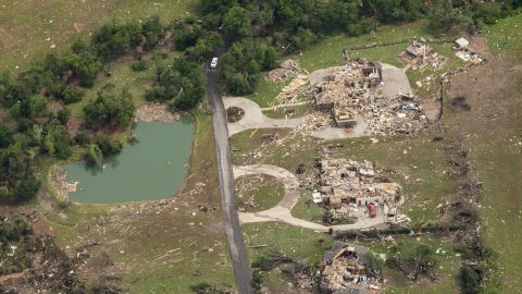 A group of homes was reduced to rubble.