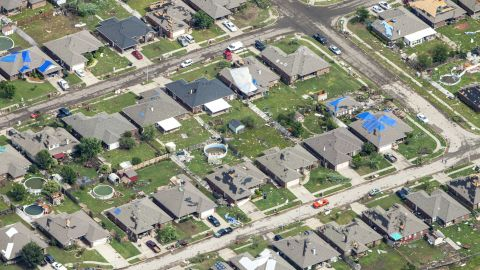 Homes in some areas were relatively undamaged while others very nearby were destroyed.