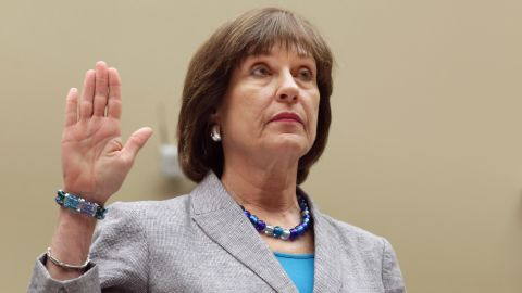 Lois Lerner is sworn in before testifying to the House Oversight and Government Reform Committee May 22, in Washington, DC.