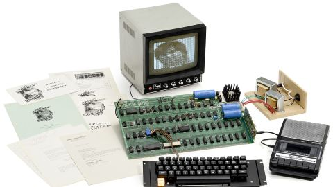 """A rare Apple 1 computer is to be auctioned for up to $400,000. The original Apple was the first computer to be built by the California-based technology company. Up for auction is one of only six surviving """"Apple 1"""" computers still in working order."""