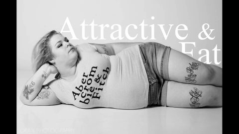 """Jes Baker, who blogs under the name """"The Militant Baker,"""" changed Abercrombie and Fitch's logo to """"Attractive & Fat"""" to challenge CEO Mike Jeffries' comments about marketing to """"cool, good-looking people."""" The company doesn't carry above a size 10 or large for women."""