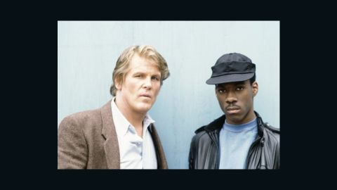 """<strong>""""48 HRS."""" (1982)</strong>: Eddie Murphy's first movie role has become one of his most iconic. The comedian/actor played a criminal who was teamed up with a police officer (Nick Nolte) to track down a killer in -- you guessed it -- 48 hours."""