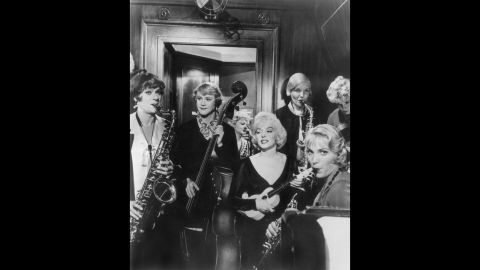 """<strong>""""Some Like It Hot"""" (1959)</strong>: In this classic comedy, Tony Curtis and Jack Lemmon star as a pair of musicians who disguise themselves as ladies in an all-woman band to escape mobsters. They set off for Florida with designs on Marilyn Monroe's Sugar Kane."""