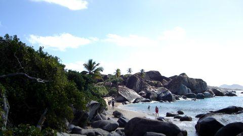 The Baths beach in the British Virgin Islands.