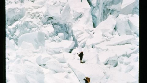 The Khumbu Icefall is also where expedition member Jake Breitenbach lost his life when the ice became unstable and buried him (not pictured).