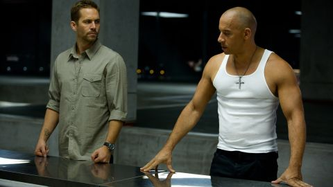 """Walker's role as Brian O'Conner in the """"Fast & Furious"""" franchise (here with Vin Diesel in the sixth film) helped make the actor a star."""