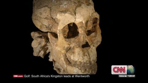 """These are the skeletal remains of """"Selam,"""" a three-year-old girl who died 3.3 million years ago. She is the earliest skeleton of a child ever found."""