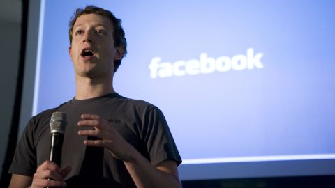 """Mark Zuckerberg, CEO of Facebook, makes an opening speech of the media event, """"behind the Scenes"""" to show the latest technology powering Facebook at their headquarters in Palo Alto on April 7, 2011 in California. AFP Photo Kimihiro Hoshino (Photo credit should read KIMIHIRO HOSHINO/AFP/Getty Images)"""