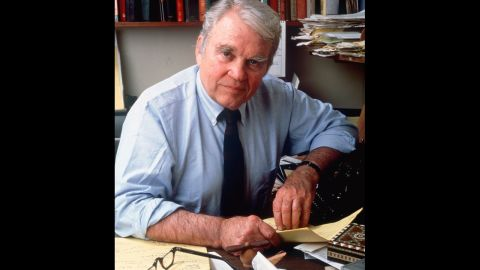 """Legendary CBS News commentator Andy Rooney, who died in 2011 at age 92, was outspoken about religion. """"I am an atheist,"""" <a href=""""http://www.tuftsdaily.com/2.5511/rooney-offers-his-opinion-1.598950#.UaBUvoIaN84"""" target=""""_blank"""" target=""""_blank"""">Rooney said at Tufts University in 2004</a>. """"I don't understand religion at all. I'm sure I'll offend a lot of people by saying this, but I think it's all nonsense."""""""