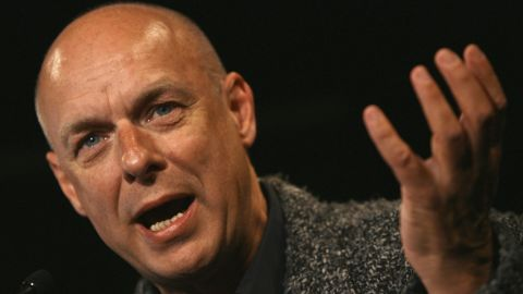 """Composer and musician Brian Eno refers to himself as an """"evangelical atheist."""" <a href=""""http://www.youtube.com/watch?v=2shEwFjhzA4"""" target=""""_blank"""" target=""""_blank"""">In 2007, he told the BBC</a>, """"What religion says to you, essentially, is that you're not in control. Now that's a very liberating idea. It's quite a frightening idea as well, in some ways."""""""