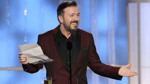 """Ricky Gervais, creator of the British series """"The Office,"""" wrote about his religious journey in <a href=""""http://blogs.wsj.com/speakeasy/2010/12/19/a-holiday-message-from-ricky-gervais-why-im-an-atheist/"""" target=""""_blank"""" target=""""_blank"""">an essay published in 2010</a> by the Wall Street Journal. """"Wow. No God. If mum had lied to me about God, had she also lied to me about Santa? Yes, of course, but who cares? The gifts kept coming,"""" he said. """"And so did the gifts of my new found atheism. The gifts of truth, science, nature. The real beauty of this world."""""""