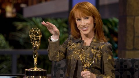 """Comedian Kathy Griffin, a self-described """"militant atheist,"""" made her position clear with a controversial <a href=""""http://transcripts.cnn.com/TRANSCRIPTS/0709/17/lkl.01.html"""">Emmy Award acceptance speech in 2007</a>. """"A lot of people come up here and they thank Jesus for this award,"""" she said. """"I want you to know that no one had less to do with this award than Jesus. He didn't help me a bit. ... So all I can say is, suck it, Jesus. This award is my god now."""""""