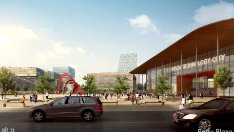 """The site, spread across 5,000 acres, will not only be a center of technology and education, but will provide new homes and leisure activities with shopping malls and other amenities. Kenya's ICT sector continues to <a href=""""https://www2.deloitte.com/content/dam/Deloitte/ke/Documents/tax/Economic%20outlook%20ke%202017%20Final.pdf"""" target=""""_blank"""" target=""""_blank"""">grow</a> and is a world leader for mobile tech. The country wants this new """"techno polis"""" to be a catalyst for the economy."""