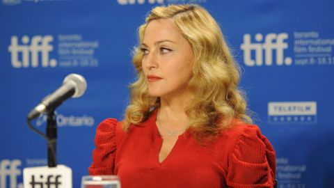 """Madonna was on her best behavior at the """"W.E."""" news conference, seen here during the 2011 Toronto International Film Festival. But at the Venice Film Festival that same year, she <a href=""""http://www.youtube.com/watch?v=wTiZz_Poc74"""" target=""""_blank"""" target=""""_blank"""">was caught saying """"I absolutely loathe hydrangeas""""</a> after a fan gave her the flowers."""