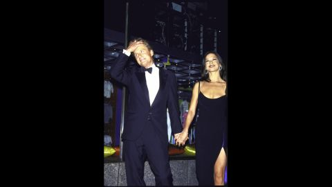 """Douglas and Catherine Zeta-Jones attend an anniversary party for """"Saturday Night Live"""" in 1999. On November 18, 2000, the couple married."""