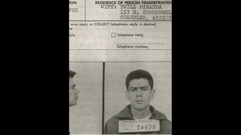 """<strong>Miranda v. Arizona (1966):</strong> Ernesto Miranda confessed to a crime without the police informing him of his right to an attorney or right against self-incrimination. His attorney argued in court that the confession should have been inadmissible, and in 1966, the Supreme Court agreed. The term """"Miranda rights"""" has been used since."""