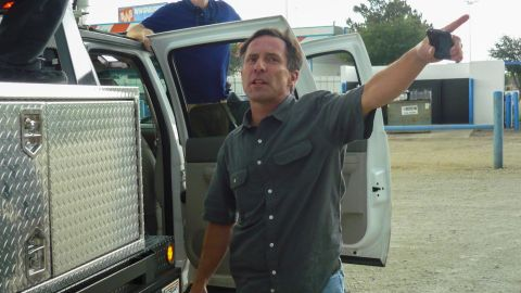 Tim Samaras points towards their next tornado intercept opportunity in 2011. CNN meteorologist Chad Myers, who also covered the May 31 storm in Oklahoma, said Samaras was known for his attention to safety.