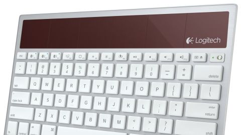 """Is Dad an eco-friendly guy? This <a href=""""http://www.logitech.com/en-us/product/wireless-solar-keyboard-k760-for-mac"""" target=""""_blank"""" target=""""_blank"""">K760 wireless, solar-powered keyboard</a> syncs via Bluetooth with your Mac, iPad or iPhone. Its built-in solar cells charge with sunlight or even lamp light, so you never need to buy batteries. <strong>Price: $79, although some sites sell it for less.</strong>"""