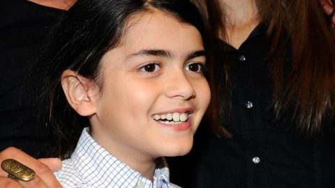 """Prince Michael Joseph """"Blanket"""" Jackson attends the Las Vegas premiere of """"Michael Jackson: The Immortal World"""" by Cirque du Soleil in December 2011. He is Michael Jackson's youngest son."""