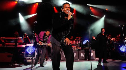 """Sigmund Esco """"Jackie"""" Jackson, center, is the second of Joe and Katherine's children. He has two children with Enid Spann: Sigmund Esco """"Siggy"""" Jackson Jr. and Brandi Jackson. Here he performs with brothers Tito, left, and Marlon Jackson in Los Angeles in July 2012."""