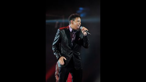"""Toriano Adaryll """"Taj"""" Jackson Jr., Tito Jackson's oldest son, is part of the group 3T. Here he performs in Cardiff, Wales, in October 2011."""