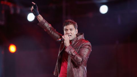Taryll Adren Jackson, Tito Jackson's middle son, performs with his bothers in memory of his uncle, Michael, in 2011.